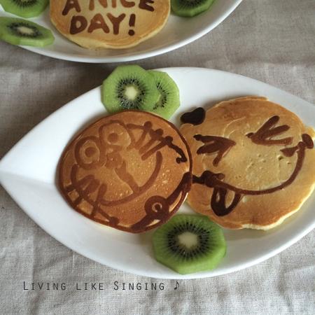お絵かきパンケーキ②