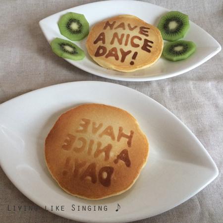 お絵かきパンケーキ④