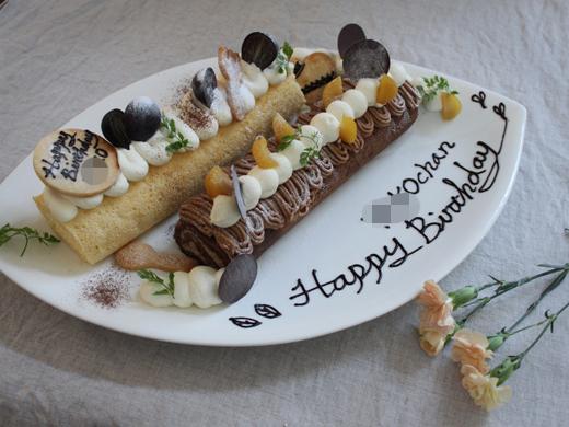 誕生日ロールケーキ