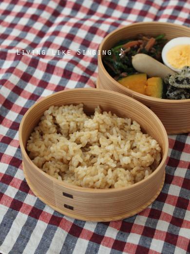 玄米のお弁当
