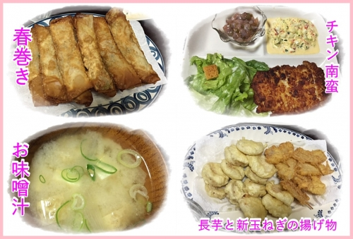 母の日の夕飯
