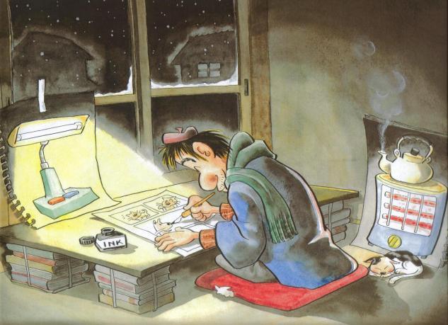貧乏漫画家(f633)