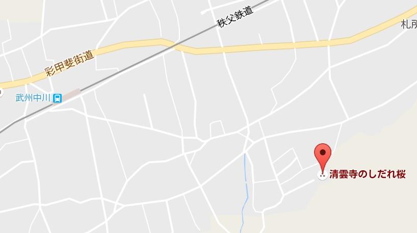 埼玉県荒川村満洲開拓団慰霊碑地図02