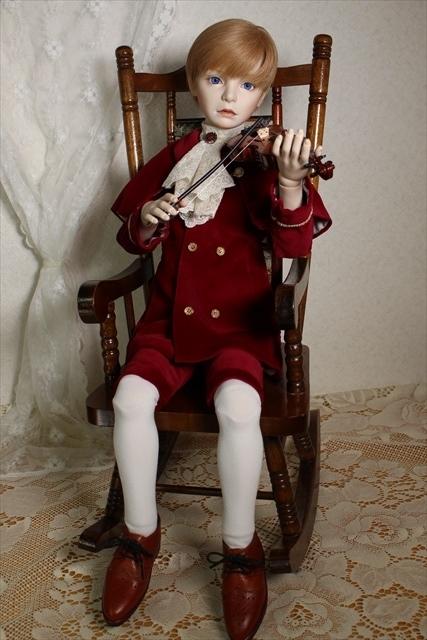 アラン(バイオリンと少年) 美少年ドールが作りたくて
