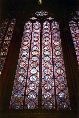 サントシャペル寺院のステンドグラス