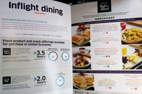 UA inflight dining