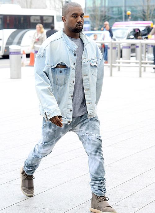 カニエ・ウェスト(Kanye West):リーバイス(Levi's)/メゾンマルタンマルジェラ(Maison Martin Margiela)/アディダス (Adidas)