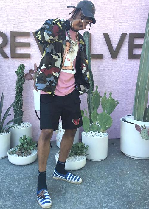 トラビス・スコット(Travis Scott):ヴァレンティノ(Valentino)/シュプリーム(Supreme)/グッチ(Gucci)