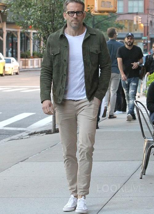 ライアン・レイノルズ(Ryan Reynolds):オフィシン・ジェネラーレ(Officine Generale)/コンバース(Converse)/トムフォード(Tom Ford)