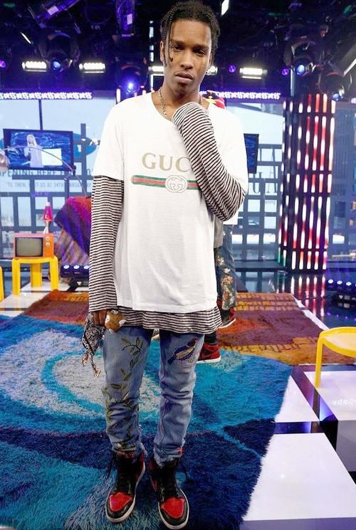 エイサップ・ロッキー(A$AP Rocky) :グッチ(Gucci)/ナイキ(Nike)