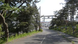 大洗磯前神社参道 ガールズ&パンツァー 聖地巡礼
