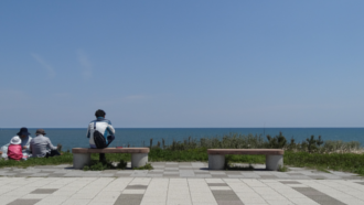 大洗公園ベンチ ガールズ&パンツァー 聖地巡礼