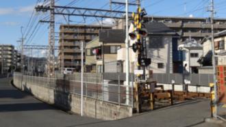 響け!ユーフォニアム 聖地巡礼 京阪宇治線木幡中学校付近踏切