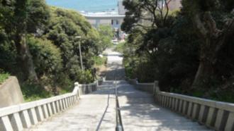 磯前神社階段 劇場版ガールズ&パンツァー 聖地巡礼
