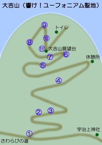 響けユーフォニアム大吉山聖地巡礼マップ