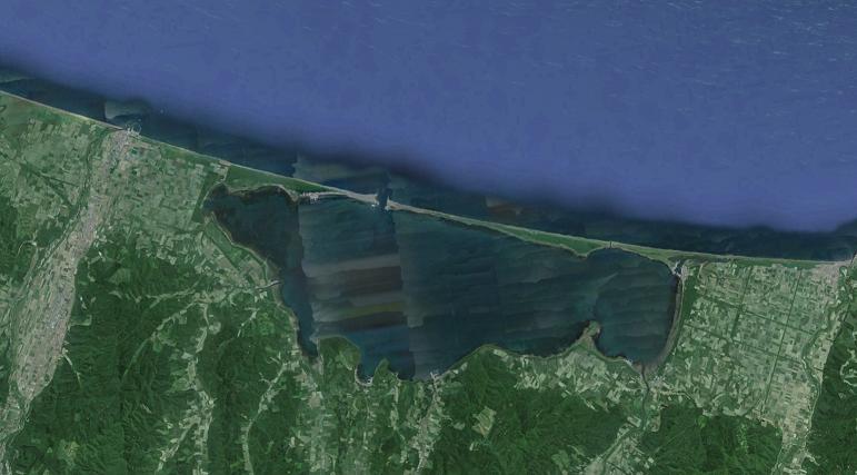 砂洲 サロマ湖(ラグーン)