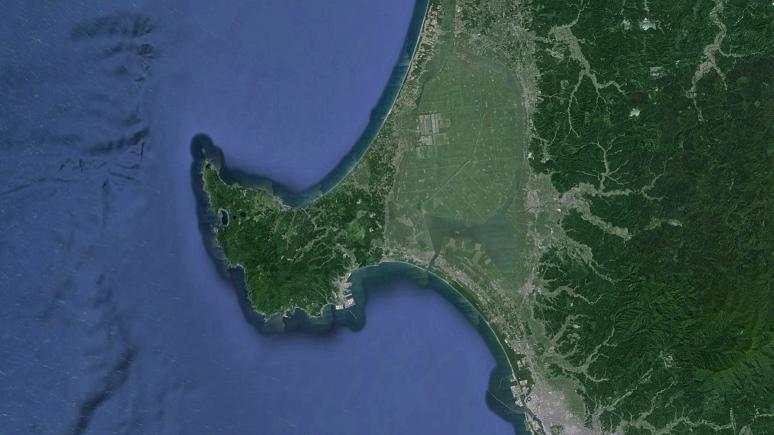 砂洲 男鹿半島(陸繋島)1