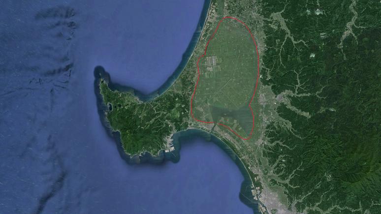 砂洲 男鹿半島(陸繋島)2