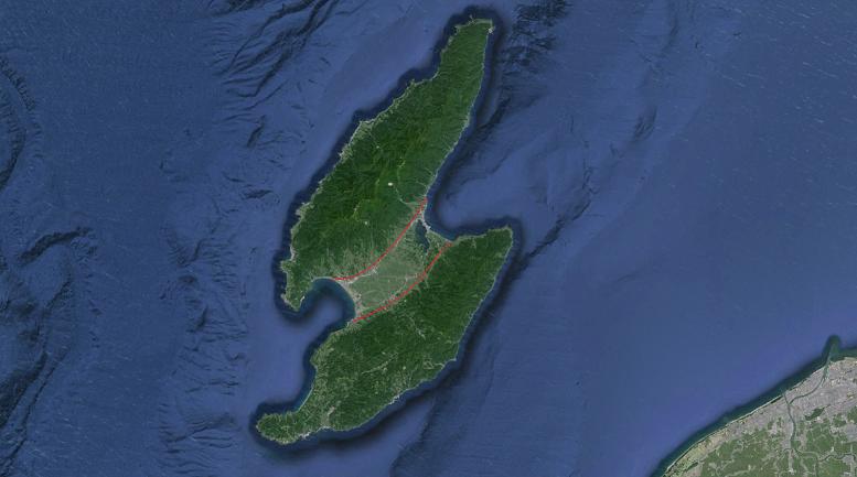 砂洲 佐渡島(陸繋島)2
