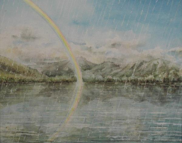 虹のかかる湖畔 1607