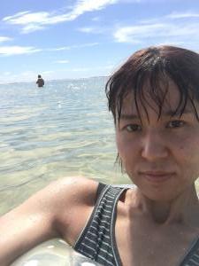 喜念浜で海水浴