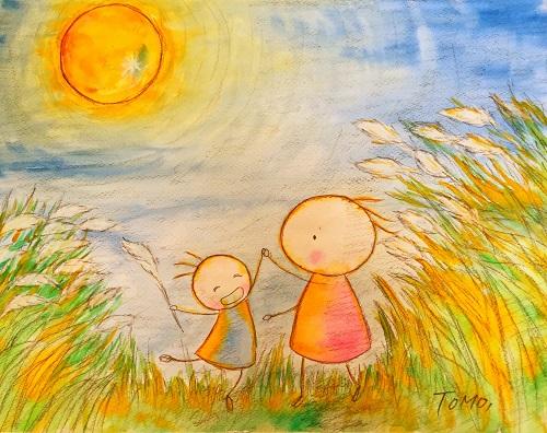 夏の終わりのお月見