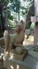 洗足池 お狐様と先代2
