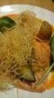 ランチサーモングリルと野菜ソテー
