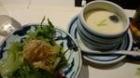 梅の花 茶碗蒸しと豆腐サラダ