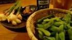 枝豆と新生姜