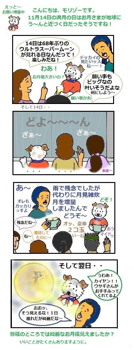 モリゾーちん197 月に願いを~