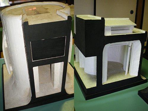 谷村美術館・展示室模型