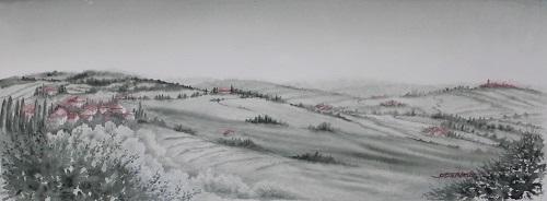 麦の穂揺れる丘(トスアーナ)
