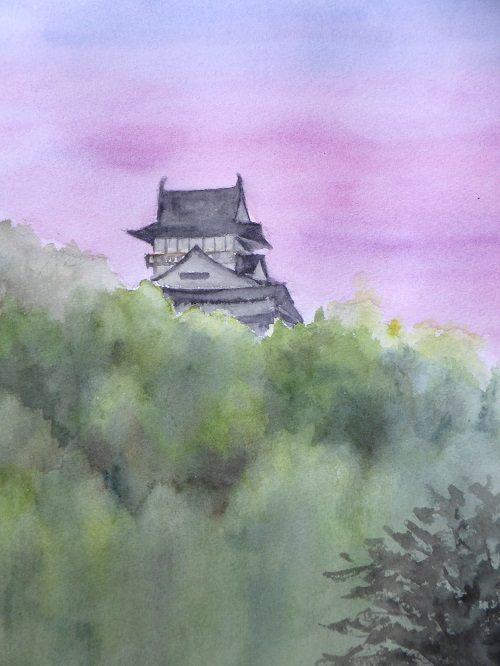 夕暮れの犬山城2