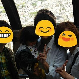 京都タワーにて