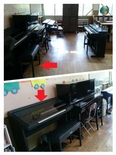 幼稚園の楽器部屋