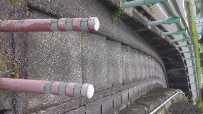 グリーンロード自歩道の階段部分