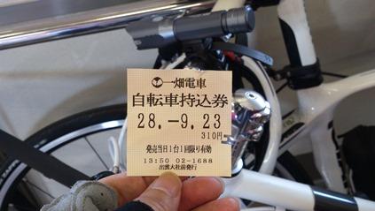 自転車持ち込み券を購入して