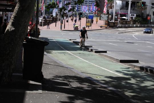 対面通行の自歩道ダーリングハーバー