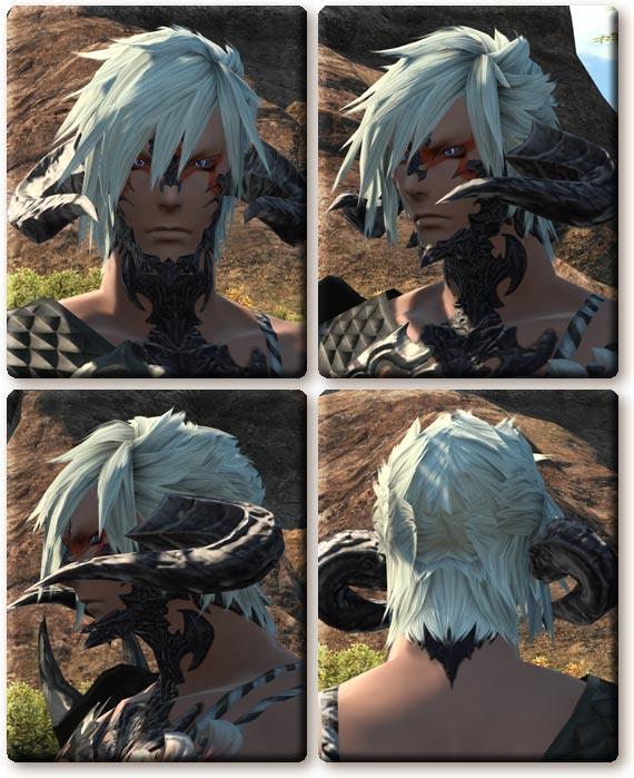 nemuKo. 【FF14】アウラ男性の髪型