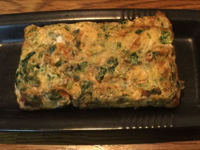 ネギと生海苔の卵焼