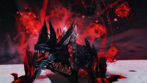 体験無料のハンティングアクションオンラインゲーム『モンスターハンターフロンティアG』 より黒く!より赤く!!より狂暴になった「ジンオウガ亜種」の狩猟を解禁したぞ~!!