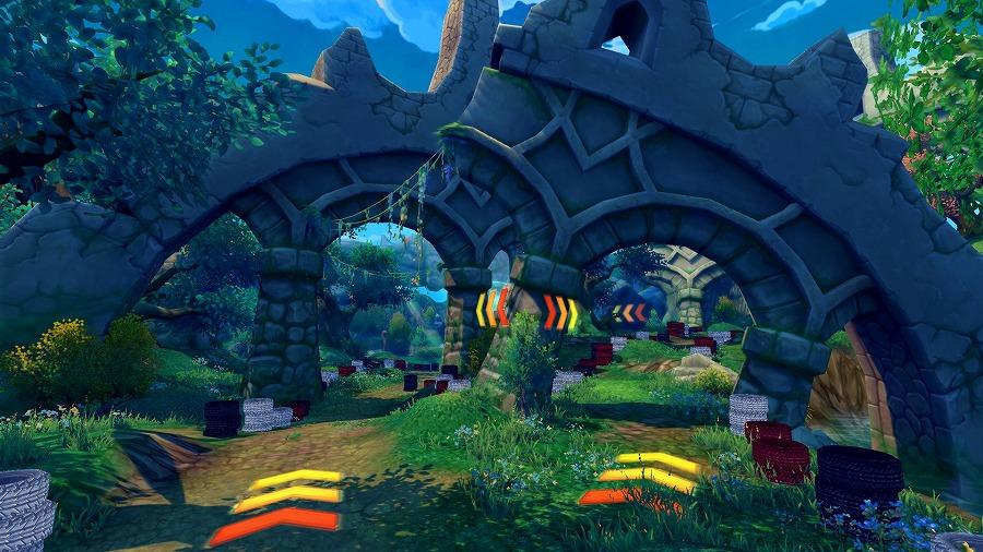 基本プレイ無料のクロスジョブファンタジーRPG『星界神話』 動く秘密基地に乗って風を切れ!新ミニゲーム「秘密基地レース」を開幕したぞ