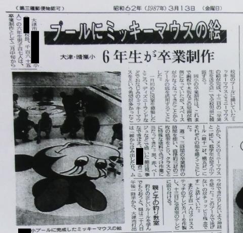 プール絵読売新聞朝刊