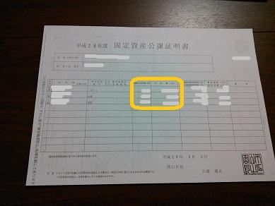 固定資産公課証明書