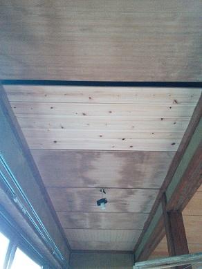 縁側天井桧