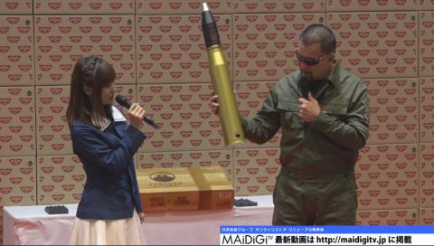 """渕上舞も興奮!「ガルパン」が日清とコラボ! """"砲弾型""""カップヌードルストッカー発売へ"""