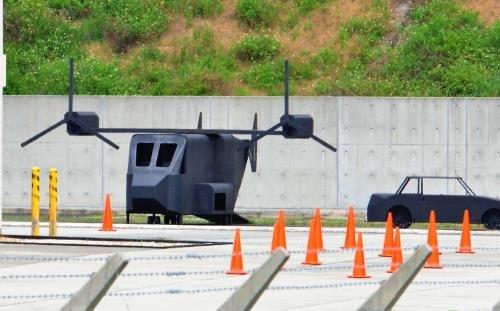 オスプレイ墜落を想定か 消防訓練施設に模型