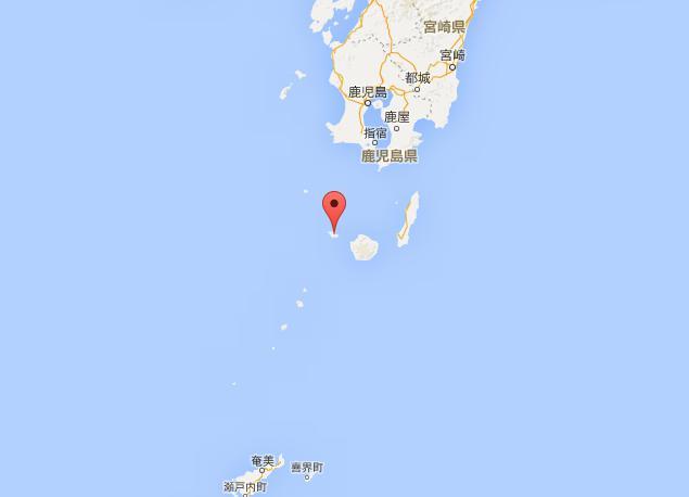 中国海軍の情報収集艦1隻が鹿児島県口永良部島の西で、日本の領海に侵入