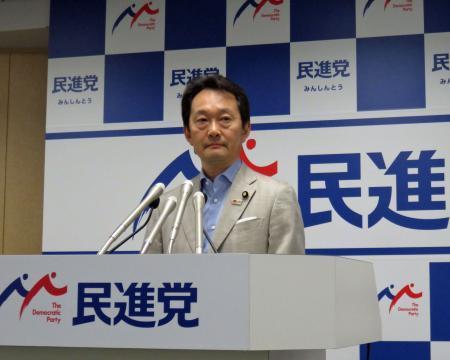 民進党の参院選向け新CM「ダレノミクス?」3編を発表した藤本祐司広報企画局長